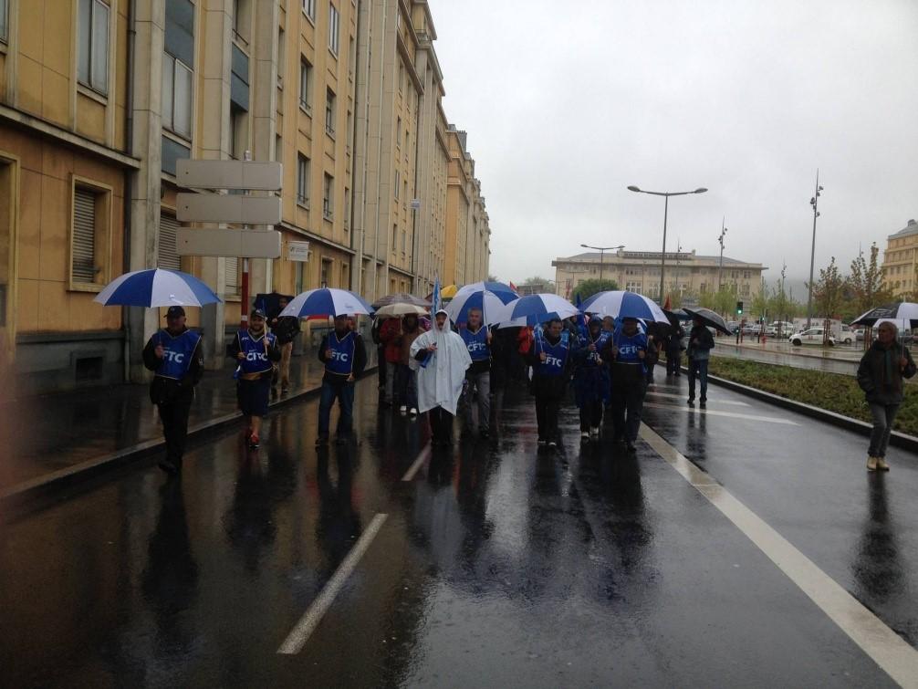 Manifestation CFTC le 1 er mai 2015 Ã  Belfort  par l''Ud90 CFTC